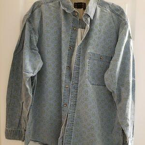 Vintage Eddie Bauer patterned long sleeve shirt XL